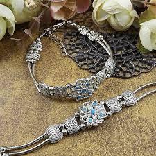 <b>Tibetan</b> silver Beads Classic <b>Fashion</b> Bracelet Folk-custom <b>Retro</b> ...