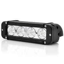 <b>2pcs</b> 8 inch <b>40W</b> Single Row LED Lightbar 4x4 Spot Flood <b>10W</b> L...