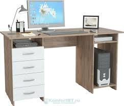 Купить <b>Письменный стол Мастер Милан</b>-<b>6</b> дуб сонома/белый в г ...
