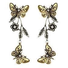 Himpokejg Woman's Fashion Vintage Butterfly Flower ... - Amazon.com