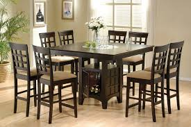 dining room tables chairs square:  pc cappuccino counter height dining table chair set