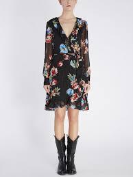 Запахивающееся <b>Платье С Принтом</b> Букетов   Blumarine Shop ...