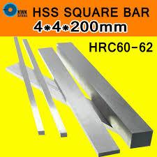 <b>HSS Steel Plate</b> 4x4x200mm <b>HRC60</b> to HRC62 <b>Steel Sheet</b> Turning ...