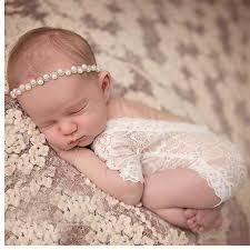<b>KLV Newborn</b> Photography Props <b>Baby</b> Girl Lace Romper <b>Infant</b> ...