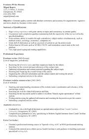 examples of the resume objectives of freelance writers        example with core professional skills freelance writer experience writing resume template