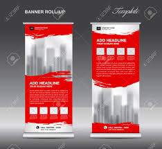 red roll up banner template vector flyer advertisement x banner red roll up banner template vector flyer advertisement x banner poster