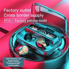 <b>M18 TWS</b> Wireless Bluetooth 5.1 Earphone Touch Earplugs In The ...