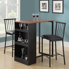 three piece dining set: amazoncom dorel living  piece counter height bar set table amp chair sets