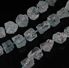 Light Blue Natural Quartz Beads ,Middle Drilled Quartz <b>Raw</b> Stone ...