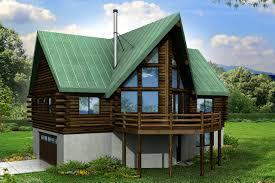 A Frame House Plans   Eagle Rock     Associated DesignsA Frame House Plan   Eagle Rock     Rear Elevation