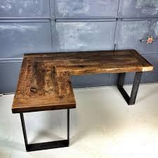 reclaimed wood l shaped desk diy home office desk recycled