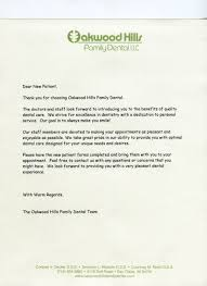 new patients eau claire wi dentist oakwood hills family dental patient welcome letter