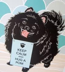 <b>Keep Calm Black</b> Pomeranian - 7x9 Eco-friendly Print on Recycled ...
