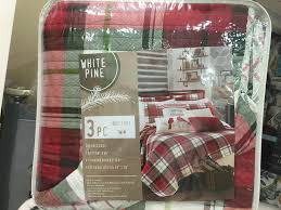 pine lodge quilt bedding set bear