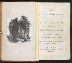 gothic motifs the british library gothic novel the castle of otranto by horace walpole page frontispiece and title