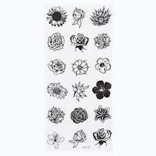 1 Sheet Temporary <b>English</b> Word Tattoo Stickers Black <b>Letters</b> ...
