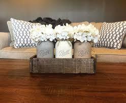 rustic style living room clever: neutral toned mason jar centerpiece mason jar decor rustic decor mason jars