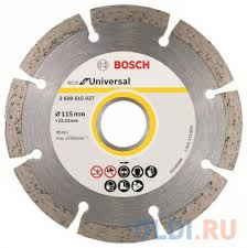 <b>Алмазный диск Bosch</b> ECO <b>Universal</b> универсальный 2608615027