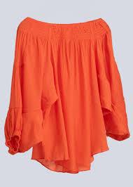 <b>wide</b> off-the-<b>shoulder</b> blouse, orange | Clothing | <b>New</b> Arrivals ...