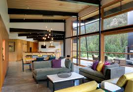 exposed beam ceiling lighting living room contemporary with transome windows black painted steel beams beams lighting