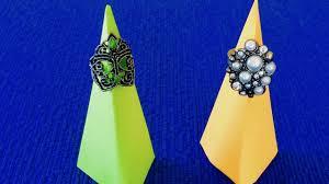 <b>оригами</b>  <b>держатель для колец</b>  организация бижутерии