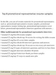 toppromotionalrepresentativeresumesamples lva app thumbnail jpg cb
