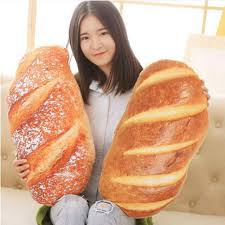 <b>Creative</b> 3 Size Bread Shaped <b>Cushion</b> Funny Soft <b>Massage</b> Neck ...