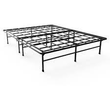 Premier Pia Metal Platform Bed Frame Queen With Bonus Base Wooden Slat System  Walmartcom  O