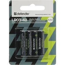 <b>Батарейки AAA Defender</b> LR03-4B 4 шт. — купить, цена и ...