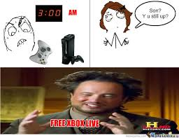 Free Xbox Live by irishdragon47 - Meme Center via Relatably.com