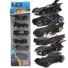 6pc/set Wheels Cars Set <b>Comics Batman</b> Batmobile Die-Cast Cars ...