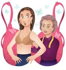Image result for lady at a bra fitting