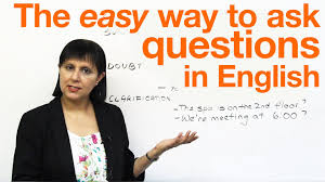 speaking english the easy way to ask questions