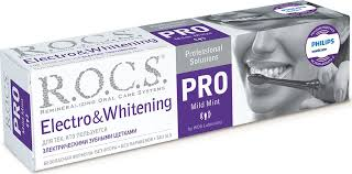 <b>R.O.C.S. PRO Зубная паста</b> Electro & Whitening Mild Mint, 135 г ...