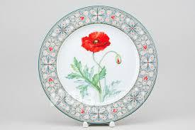 <b>Декоративная тарелка</b> рис. Мак восточный (<b>27</b> см)