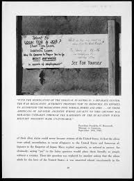 history suffering under a great injustice ansel adams s photograph of a sign at the manzanar relocation center telling residents that they can be granted job board