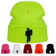 Billie Eilish Beanie Knitted Winter Hat Solid Hip-hop Skullies Knitted ...