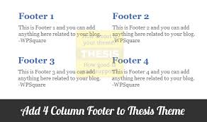 How to Add   Column Footer to Thesis Theme
