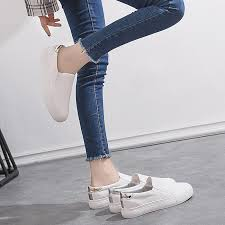 <b>2018 new Korean version</b> of the leather one foot shoes | Shopee ...