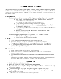 how to write an outline for a research paper paper outline making an outline for an essay mla re paper template
