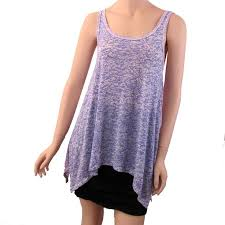 <b>Women's</b> Burnout Purple Tones and White Tank Top Shirt <b>Summer</b> ...