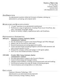 chronological resume example  administrative assistant