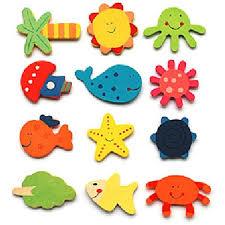 <b>12Pcs</b>/Lot Animals Wooden Fridge Magnet Sticker <b>Cute</b> Cartoon ...