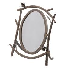 table mirror: rustic pine table mirror iron pine table mirror