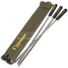 <b>Шампур плоский Гурман</b> Люкс 23004-newblk с деревянной ручкой ...