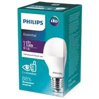 <b>Лампа светодиодная</b> Philips Essential <b>LED</b> 4000К, E27, A55, 11Вт ...
