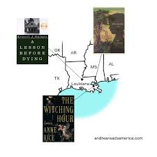 maps andrea reads america map of books set in lousiana a lesson before dying the missing the