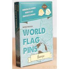 Miss <b>Wood</b> World <b>Flag</b> Pins Europe 25 <b>pieces</b>