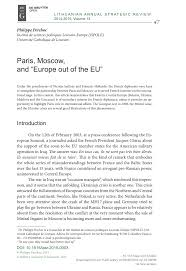 """(PDF) Paris, Moscow, and """"<b>Europe out of</b> the EU"""""""