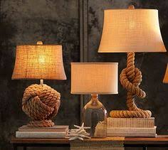 Nautical Rope Table <b>Lamp</b> in 2019 | madeira rústica | Rustico ...
